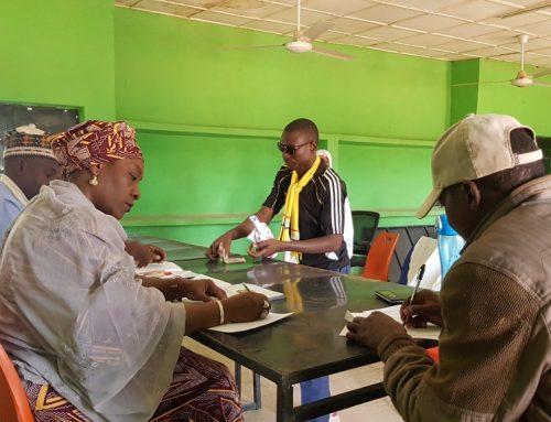 Disbursement of monthly allowance to beneficiaries at Community Development Centers Uguwan Muazu and Mando Kaduna.